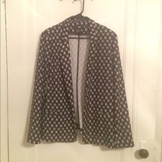 H&M Black and White Patterned Blazer Black and white patterned blazer by H&M. Size 16. No button closure. H&M Jackets & Coats Blazers