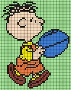 Rerun From Snoopy And The Peanuts Gang (Square) Perler Bead Pattern / Bead Sprite