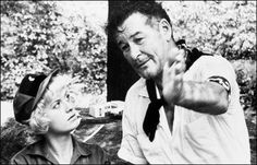 """While making The Roots Of Heaven in 1958 one year before his death, the movie's director John Huston described Flynn's appearance """"face had a slighly disquieting aspect as if a thin layer of spongy tissue had been inserted between the skin and bone. John Huston, Skin And Bones, Errol Flynn, Fidel Castro, Cuba Travel, Story Video, Vintage Hollywood, Good Looking Men, Popular Culture"""