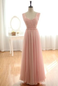 Blush-pink wedding dress...I love the style of this dress. Jen, love this color for YOU