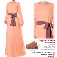 Sweet Pastel Chiffon Abaya Muslim Islamic Dress S/M by MissMode21, $34.00 FREE SHIPPING WORLDWIDE!!