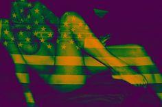 "Saatchi Art Artist TANTRA ART; Photography, """"Flag Nude"", Oversized 43""x64"" Archive Professional Digital C Print, Lustre finish "" #art"