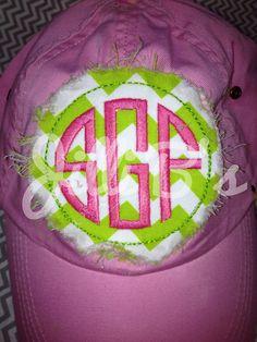 Monogrammed ball cap by JilliBs on Etsy, $20.00