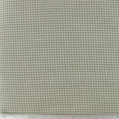Sage Green Rustic Woven Check Cotton Calico Fabric