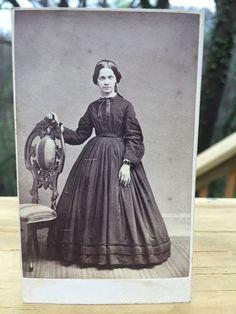Antique CDV Photo 1800s Civil War era Woman Frankford Pennsylvania Schofield  | eBay