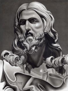 Jesus Christ Drawing, Jesus Christ Images, Jesus Art, Bernini Sculpture, Plaster Sculpture, Sculpture Art, Ancient Greek Sculpture, Greek Statues, Religion Tattoos