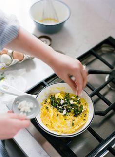 Recipe: Dandelion Greens and Pepper Omelet Kinfolk