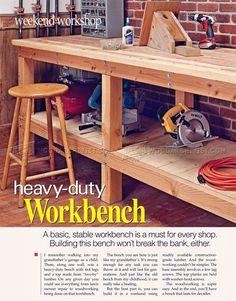 Heavy Duty Workbench Plans - Workshop Solutions