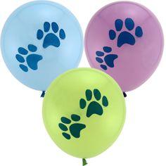 Puppy Dog Birthday Party Ideas: paw print balloons