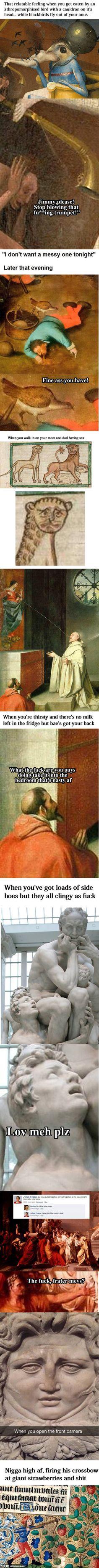 - Genius Meme - Genius Meme The post appeared first on Gag Dad. The post appeared first on Gag Dad. Funny Art, The Funny, Best Memes, Funny Memes, Hilarious, Medieval Reactions, Renaissance Memes, Art History Memes, Classical Art Memes