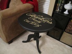I would love to do this on the top of whatever table I get to replace the endtable in our livingroom. Sure my laptop would sit on it but I love the idea!