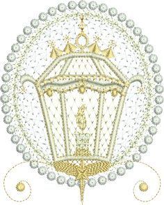 Sue Box Creations | Download Embroidery Designs | 03 - Christmas Lamp