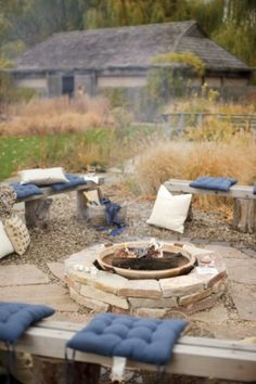 A whole bunch of DIY fire pits.