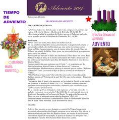 ORACIÓN. Diciembre 20º, SÁBADO 2014. 3RA SEMANA DE ADVIENTO ҉҉LOURDES MARÍA BARRETO҉҉