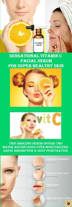 Sensational Vitamin C Facial Serum For Super Healthy Skin. Middle-aged women who consumed more vitamin C from food sources appeared to have. Anti Aging Facial, Facial Serum, Facial Hair, Facial Toner, Facial Masks, Electrolysis Hair Removal, Brown Spots On Skin, Brown Skin, Skin Spots