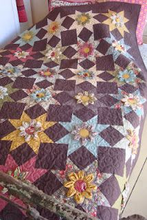 Urban Cowgirl Quilt - 3D flowers