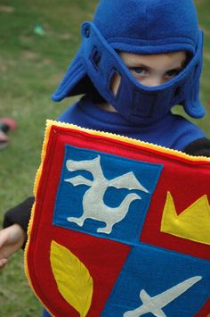Mike The Knight Inspired Fleece Helmet - Halloween Costume - Halloween Costume - Kid Costume. $35.00, via Etsy.