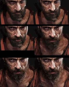 """To Paint These 21 Digital Portraits (Step-By-Step) """"Jean Valjean"""" by Menghua Fang (Process Picture)""""Jean Valjean"""" by Menghua Fang (Process Picture) Digital Painting Tutorials, Digital Art Tutorial, Art Tutorials, Digital Portrait, Portrait Art, Portraits, Painting Process, Process Art, Wow Art"""