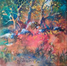 Original painting: Into the Woods by DaveHuddleston on Etsy, $25.00