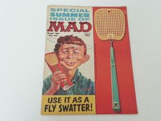 Vintage Mad Magazine No. 57 September 1957 Summer Issue Fly Swatter Cover