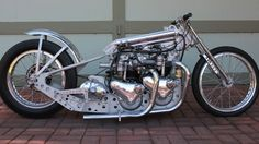 This Motorcycle Enthusiasts Twin Engine Triumph Bonneville Tiger Dragster Is One Fine Looking Restored Vintage Classic!