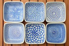 DIY hand-painted ceramic tealight holders | by funnelcloud rachel