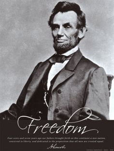 Freedom: Abraham Lincoln People Art Print - 46 x 61 cm Greatest Presidents, American Presidents, American Civil War, American History, Abraham Lincoln, Community Reinvestment Act, The Proposition, God Bless America, Founding Fathers