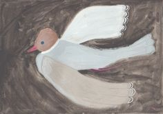 dove, aquarelle, painting, illustrations