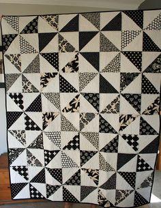 Black and White Pinwheel