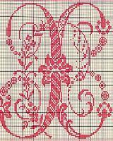 Ancient old cross stitch alphabet (22)