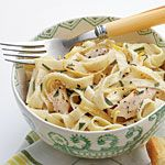 Linguine with Turkey, Basil, and Crème Fraîche Recipe | MyRecipes.com