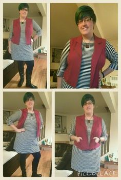 Torrid vest and Old Navy dress