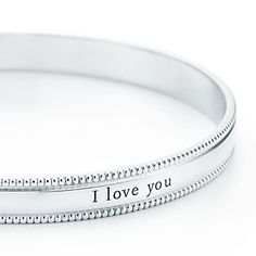 """cute """"I Love You"""" braclet from Tiffany & Co. !"""