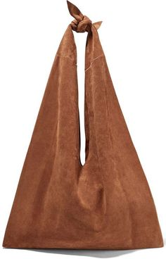 Hobo bag suede con nodo The Row, tra le hobo bag più glamour dell'Autunno/Inverno 2016 2017.