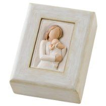 Available for purchase at:   http://astore.amazon.com/mormazon-20/detail/B0036TYWLA  DEMDACO Willow Tree Angel of Mine Memory Box  $22.74