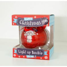 'Hugs' Christmas Light up Bauble £1.99 from Card Factory.