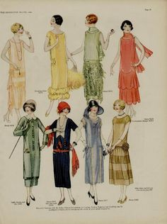 1924 Butterick Patterns from the Delineator Magazine 20s Fashion, Fashion Mode, Fashion History, Art Deco Fashion, Vintage Fashion, Flapper Fashion, Fashion Fashion, Fashion Dresses, Moda Vintage