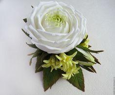 Заколка ручной работы для волос с цветами из фоамирана, розы ручной работы, украшения в прическу, мастер Любовь Амосова