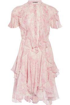 Alexander McQueen Printed silk-chiffon dress    NET-A-PORTER
