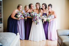 Bride and bridesmaids before the ceremony