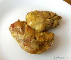 Coxa de frango assada com especiarias