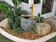 front yard water feature ideas | ... with water fountain that is one of attractive front yard decorations