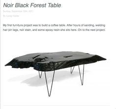 modern organic interior slab wood table