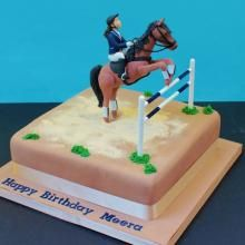 Horse jumping cake by Cakes 4 fun Ltd