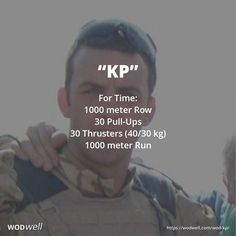 For Time: 1000 meter Row; 30 Pull-Ups; 30 Thrusters (40/30 kg); 1000 meter Run