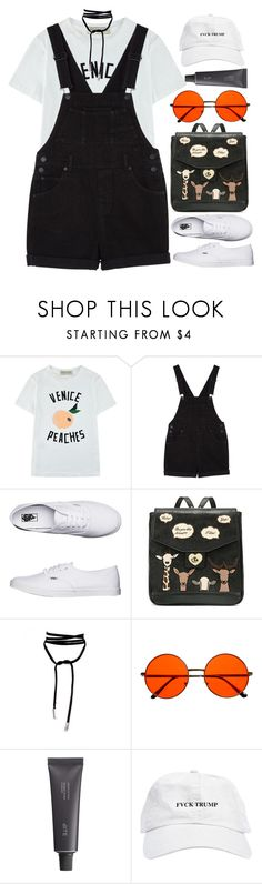 """Take us back to the 80's"" by tooprada ❤ liked on Polyvore featuring Être Cécile, Monki, Vans, INDIE HAIR and Bite"