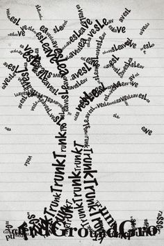 Typographic Tree (Typograghic iPhone Art) by morgantj, via Flickr