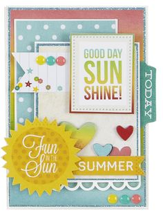 New Simple Stories Good Day Sunshine - Scrapbook.com - Made with Simple Stories products.