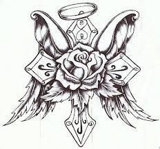 Tattoo coloring pages cross drawing memorial tattoos cross tattoo designs angel tattoo designs flower tattoo cross Cross Tattoo Designs, Cross Tattoos, Tattoos Skull, Flower Tattoo Designs, Body Art Tattoos, Celtic Tattoos, Pics Of Tattoos, Animal Tattoos, Cross With Wings Tattoo