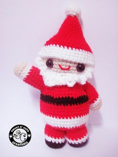 LITTLE AMIGURUMI SANTA FREE CROCHET PATTERN